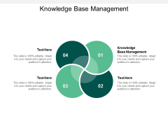 Knowledge Base Management Ppt PowerPoint Presentation Slides Background Image Cpb