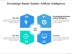Knowledge Based System Artificial Intelligence Ppt PowerPoint Presentation Ideas Slides Cpb