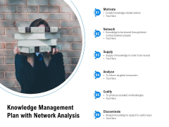Knowledge Management Plan With Network Analysis Ppt PowerPoint Presentation File Master Slide PDF