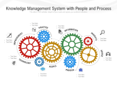 Knowledge Management System With People And Process Ppt PowerPoint Presentation Slides Objects PDF