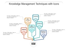 Knowledge Management Techniques With Icons Ppt PowerPoint Presentation Layouts Clipart Images PDF