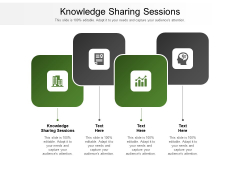 Knowledge Sharing Sessions Ppt PowerPoint Presentation Ideas Shapes Cpb Pdf