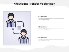 Knowledge Transfer Vector Icon Ppt PowerPoint Presentation Inspiration Brochure
