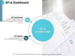 Kpi And Dashboard Ppt PowerPoint Presentation Icon Template
