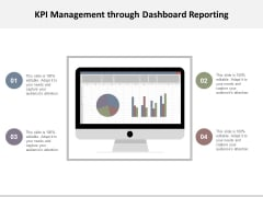 Kpi Management Through Dashboard Reporting Ppt Powerpoint Presentation Layouts Slides