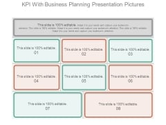 Kpi With Business Planning Presentation Pictures