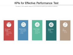Kpis For Effective Performance Test Ppt PowerPoint Presentation Gallery Deck PDF