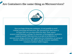 Kubernetes Containers Architecture Overview Are Containers The Same Thing As Microservices Guidelines PDF