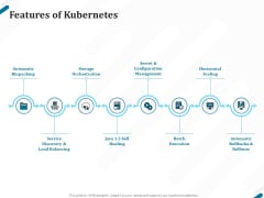 Kubernetes Containers Architecture Overview Features Of Kubernetes Ppt Gallery Graphic Tips PDF
