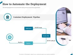Kubernetes Containers Architecture Overview How To Automate The Deployment Ppt Infographic Template Styles PDF
