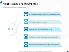 Kubernetes Containers Architecture Overview What Is Nodes In Kubernetes Ppt Model Background Image PDF
