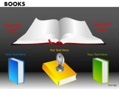 Key To Education Books PowerPoint Ppt Templates