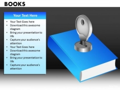 Key To Learning Books Education PowerPoint Ppt Templates