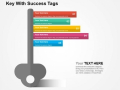 Key With Success Tags PowerPoint Templates