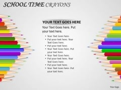 Kids Education School Time Crayons PowerPoint Slides And Ppt Diagram Templates