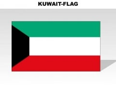 Kuwait Country PowerPoint Flags