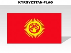 Kyrgyzstan Country PowerPoint Flags