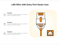 LAN Wire With Entry Port Vector Icon Ppt PowerPoint Presentation Icon Outline PDF