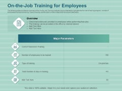 LMS Development Session On The Job Training For Employees Ppt Layouts Slide PDF