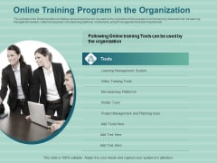 LMS Development Session Online Training Program In The Organization Designs PDF