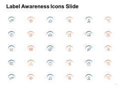 Label Awareness Icons Slide Target Ppt PowerPoint Presentation Show