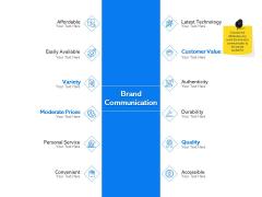 Label Building Initiatives Brand Communication Ppt Slide Download PDF