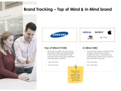 Label Identity Design Brand Tracking Top Of Mind And In Mind Brand Ppt File Styles PDF