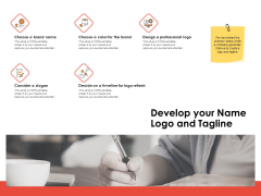 Label Identity Design Develop Your Name Logo And Tagline Ppt Styles Examples PDF