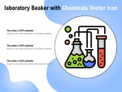 Laboratory Beaker With Chemicals Vector Icon Ppt PowerPoint Presentation Summary Themes PDF