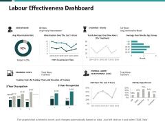 Labour Effectiveness Dashboard Ppt PowerPoint Presentation Icon Vector