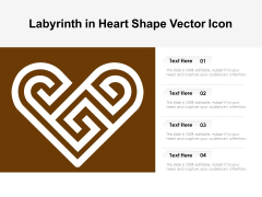 Labyrinth In Heart Shape Vector Icon Ppt PowerPoint Presentation Pictures Design Templates PDF