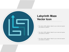 Labyrinth Maze Vector Icon Ppt PowerPoint Presentation Styles Visual Aids