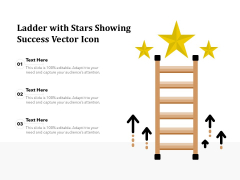 Ladder With Stars Showing Success Vector Icon Ppt PowerPoint Presentation Summary Layout PDF