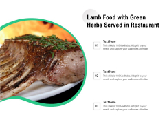Lamb Food With Green Herbs Served In Restaurant Ppt PowerPoint Presentation File Outfit PDF