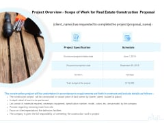 Land Holdings Building Project Overview Scope Of Work For Real Estate Construction Proposal Clipart PDF