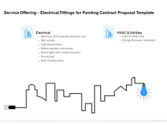 Land Holdings Building Service Offering Electrical Fittings For Painting Contract Proposal Template Designs PDF