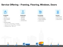 Land Holdings Building Service Offering Framing Flooring Windows Doors Formats PDF