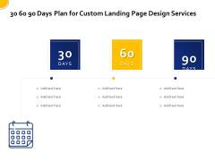 Landing Page Design Optimization 30 60 90 Days Plan For Custom Landing Page Design Services Introduction PDF