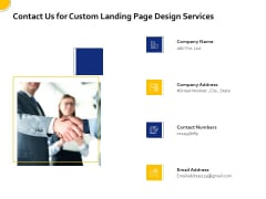 Landing Page Design Optimization Contact Us For Custom Landing Page Design Services Professional PDF