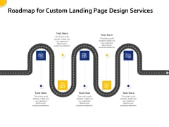 Landing Page Design Optimization Roadmap For Custom Landing Page Design Services Icons PDF