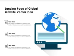 Landing Page Of Global Website Vector Icon Ppt PowerPoint Presentation Ideas Slides PDF