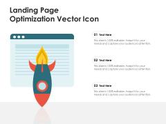 Landing Page Optimization Vector Icon Ppt PowerPoint Presentation Professional Design Inspiration PDF
