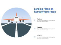 Landing Plane On Runway Vector Icon Ppt PowerPoint Presentation Professional Model