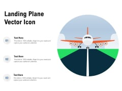Landing Plane Vector Icon Ppt PowerPoint Presentation Gallery Graphics Design