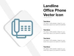 Landline Office Phone Vector Icon Ppt Powerpoint Presentation Model Ideas