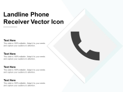 Landline Phone Receiver Vector Icon Ppt Powerpoint Presentation File Example Topics