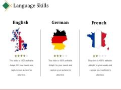 Language Skills Ppt PowerPoint Presentation Model Deck