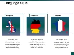 Language Skills Ppt PowerPoint Presentation Model Guidelines