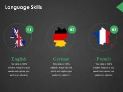 Language Skills Ppt PowerPoint Presentation Outline Format