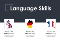 Language Skills Ppt PowerPoint Presentation Outline Model